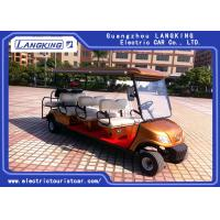 Wholesale 8 Seater 3 Rows Forward 1 Row Backward Electric Club Car With Curtis Controller For Hotel Reasort from china suppliers