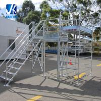 Quality Structural steel fabrication prefabricated steel staircase working platform for sale