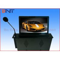 18.5 Inch Motorized Computer Desk Monitor Lift With Conference Microphone