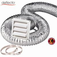 Wholesale 4 Inch 100mm Dryer Venting Kit Flexible Shutter Louver Vent Cover Flexible Duct Hose Aluminum Wall Pipe Duct Clamp Clips from china suppliers