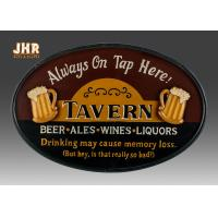Wholesale Vintage Style Club Wall Sign With Resin Beer Photo from china suppliers
