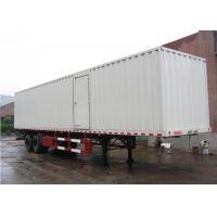Wholesale 13m Curtain Side Semi Trailer Steel Box Double Axles for Dry Freight Cargos from china suppliers