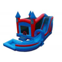 Wholesale Inflatable Castle Combo Bounce House , Blow Up Bounce House 0.55mm PVC Tarpaulins from china suppliers