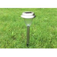 Wholesale Stainless Steel Solar Yard Stake Lights Waterproof With Glass Lens , CE ROHS Listed from china suppliers