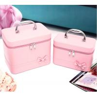 Pink Lovely Large Makeup Bag Fashion Mirro With Inner Zipper Pocket