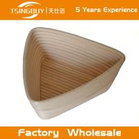Wholesale Professional handmade 100% natural canne triangle banneton dough rising basket banneton, brotform from china suppliers