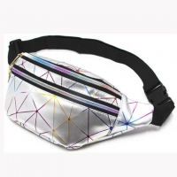 Wholesale Diamond Color Laser Outdoor Sports Pu Waist Bag Men'S And Women'S Chest Bag from china suppliers