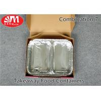 Wholesale Food Grade Aluminum Foil Take Out Containers 2 Compartments Combination 7 Healthy Diet from china suppliers