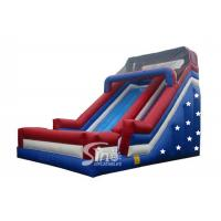 Wholesale Patriotic giant stars inflatable slide for children from china suppliers