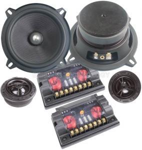 China 4 Ohm 5.25 Woofer Car Component Speaker 30 Watt With Fiberglass Cone on sale