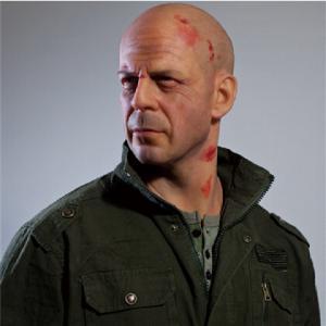 China High Relastic Celebrity Wax Figures Bruce Willis Die Hard 4.0 wholesale