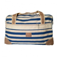 Wholesale Large Capacity Washable Stripes Canvas Travel Duffle Bag from china suppliers