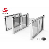 Wholesale Indoor Or Outdoor Pedestrian Swing Gate Tempered Glass Automatic Turnstile Gate from china suppliers