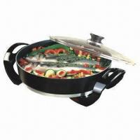Electric Skillet With Deep Interior For Roasting Or Frying