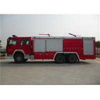 Dry Powder / Foam Fire Service Truck , Piston Primer Pump Modern Fire Truck