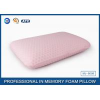 China 45D Bread Polyurethane Traditional Memory Foam Pillow With Washable Zippered Cover wholesale