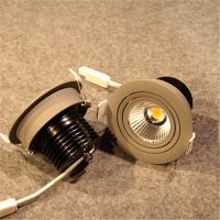 China COB LED Spotlights with  grey color, gimbled structure, non-dimmable or dimmable wholesale