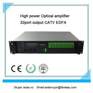 fiber optical amplifier 2U rack  32 port  output CATV EDFA  19dBm each port output power