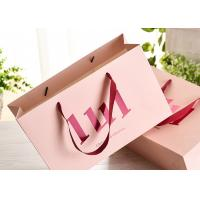 Wholesale Ribbon Handle Paper Shopping Bags With Strong Heat Resistant Glue Reinforce from china suppliers