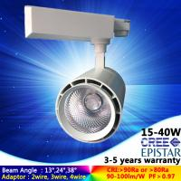 Wholesale 3/4 channel warm white 3000K 25W LED track light focus angle for gallery with 5 years warranty from china suppliers