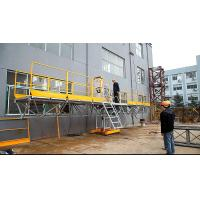 Buy cheap 415V 3m Width Mast Climbing Work Platform Scaffold Steel Painted from wholesalers
