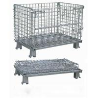 Buy cheap Workshop Metal Wire Mesh Cages , Galvanized Wire Folding Wire Container from wholesalers