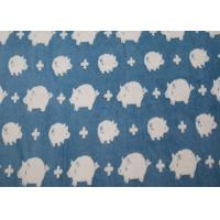 Quality Lovely Pig Winter Berber Fleece Fabric Jacquard For Blankets OEM / ODM Available for sale