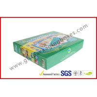 China Handmade E Flute Corrugated Paper Box , Children Toy Boxes With Square Shape on sale