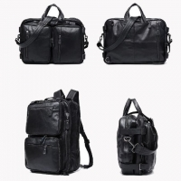 Wholesale Retro Multifunctional Men'S First Layer Cowhide Office Laptop Backpack from china suppliers