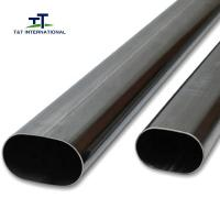 Wholesale Professional Carports Flat Oval Steel Tubing 0.5-10mm Thickness ISO Certification from china suppliers