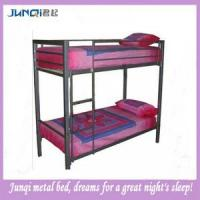 China Blue Iron Bed / Comfortable Dormitory Bed (JQB-116) on sale