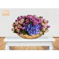 Wholesale Gold Leafed Fiberglass Flower Serving Bowl Decorative Table Vases Boat Shape from china suppliers
