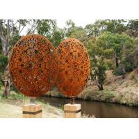 Wholesale Vintage Style Corten Steel Sculpture Corrosion Stability Customized Size from china suppliers