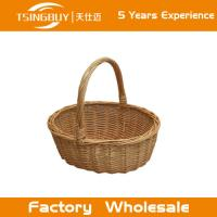 Wholesale Factory wholesale 100% nature handcraft rectangular handmade laundry basket decoration rattan wicker bread baskets from china suppliers