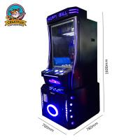 Quality Custom Made Coin Operated Game Machine Happy Jumping Ball Game Playing for sale