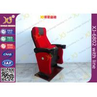 Gravity Seat Return Structure Theatre Seating Chairs Tip Up Arm With Cup Hold