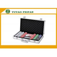 China 6 Colors Professional Poker Chips Sets For Casino 300 Pcs Round Corner wholesale