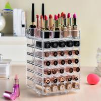 China Rotating Acrylic Lipstick Holder Spinning Lipstick Tower 3mm Thickness on sale