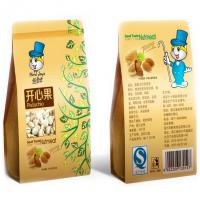 China stand up brown kraft paper bag with window and zipper , food bag mock up wholesale