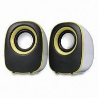 Wholesale USB 2.0 Mini Speaker, Powered in 2.5W x 2, Available from 30Hz to 20Hz in Frequency Response Range from china suppliers