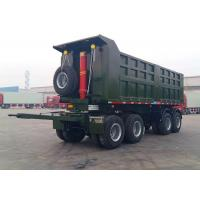 Wholesale Steel Box Drawbar Dump Tipper Semi Trailer 4 Axles For Sand And Bulk Material from china suppliers
