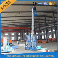 Wholesale 8m 100kg Single Mast Aerial Work Platform Lift for Window Cleaning 100kg Capacity from china suppliers
