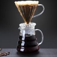 Wholesale 600ml glass high borosilicate coffee maker glass coffee pot from china suppliers