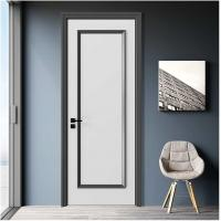 Buy cheap Newest Panel Door Design Painted White or Grey Color Modern Interior Door from wholesalers