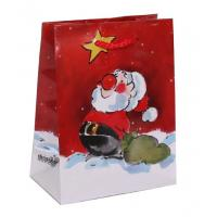 Wholesale Art paper laminated print Coloured Paper Personalized Christmas Gift Bags With Handles from china suppliers