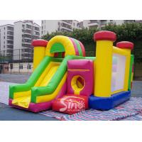 Wholesale Outdoor Kids Inflatable Bouncy Castle With Slide And Pillars Inside Made Of Best Pvc Tarpaulin from china suppliers