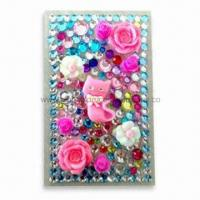 Wholesale Rhinestone Bling Tattoo Sticker with Acrylic Materials, OEM and ODM Orders are Welcome from china suppliers