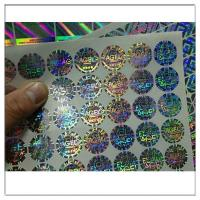 Wholesale Self Adhesive 3d Holographic Hologram Stickes Labels,Customized holographic label sticker anti counterfeit label from china suppliers