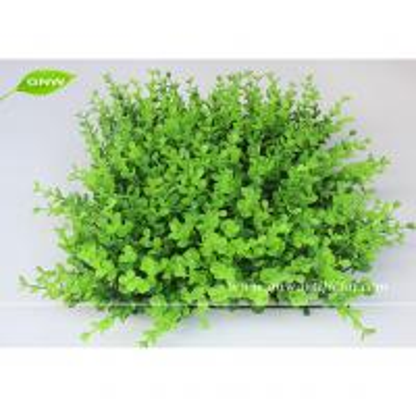 Gnw box014 artificial grass panel plastice boxwood mat for Garden decking with artificial grass