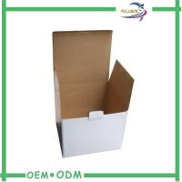 Wholesale Stable White Glossy Customized Corrugated Paper Box Fashion Design from china suppliers